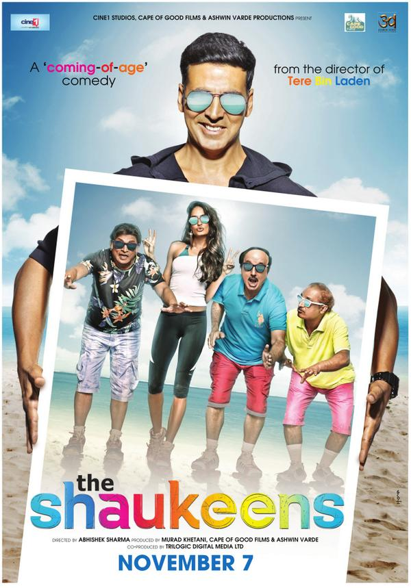 New posters of akshay kumar's 'the shaukeens' unveiled.