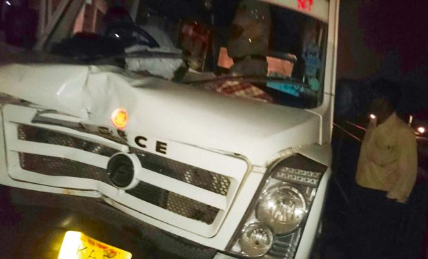 A file photo of a Tempo Traveller involved in an accident on Hosur Road