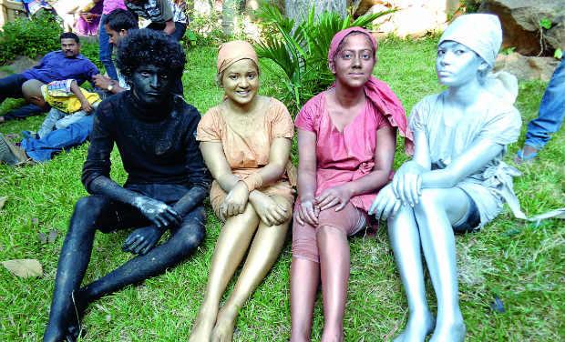 Vivekananda, Diane, Shalini and Vidhya