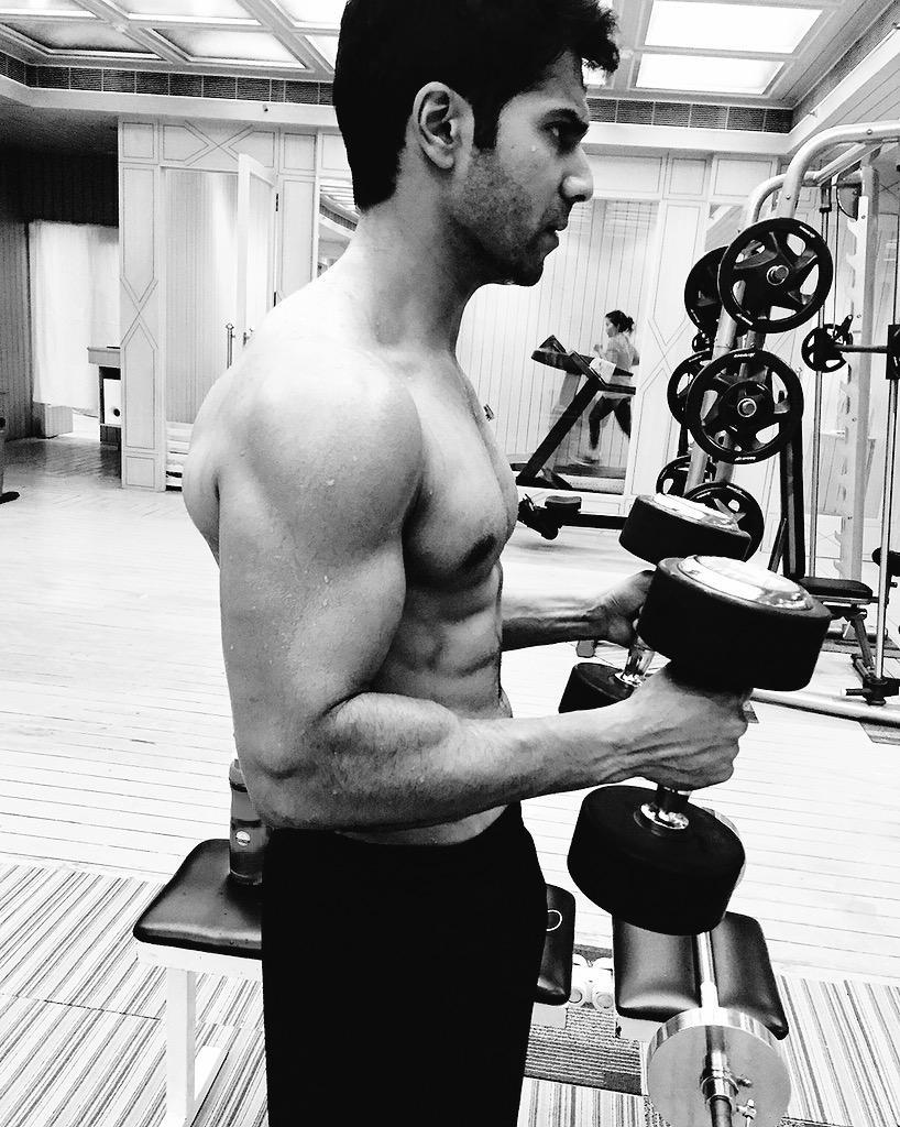 Image result for varun dhawan exercising
