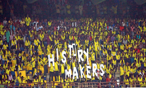 A section of the crowd at the ISL match