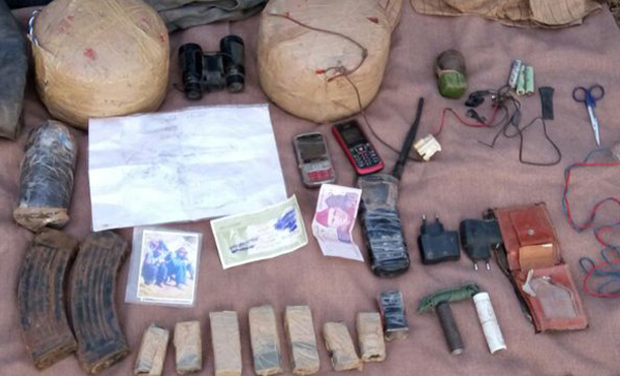Acting on a specific information, a joint team of Army and Police launched a search operation in general area of Salani in Poonch district yesterday and recovered war-like stores, a defence spokesman said on Wednesday. (Photo: Twitter)