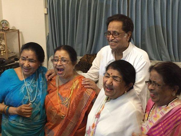 Image result for Hridaynath Mangeshkar Family
