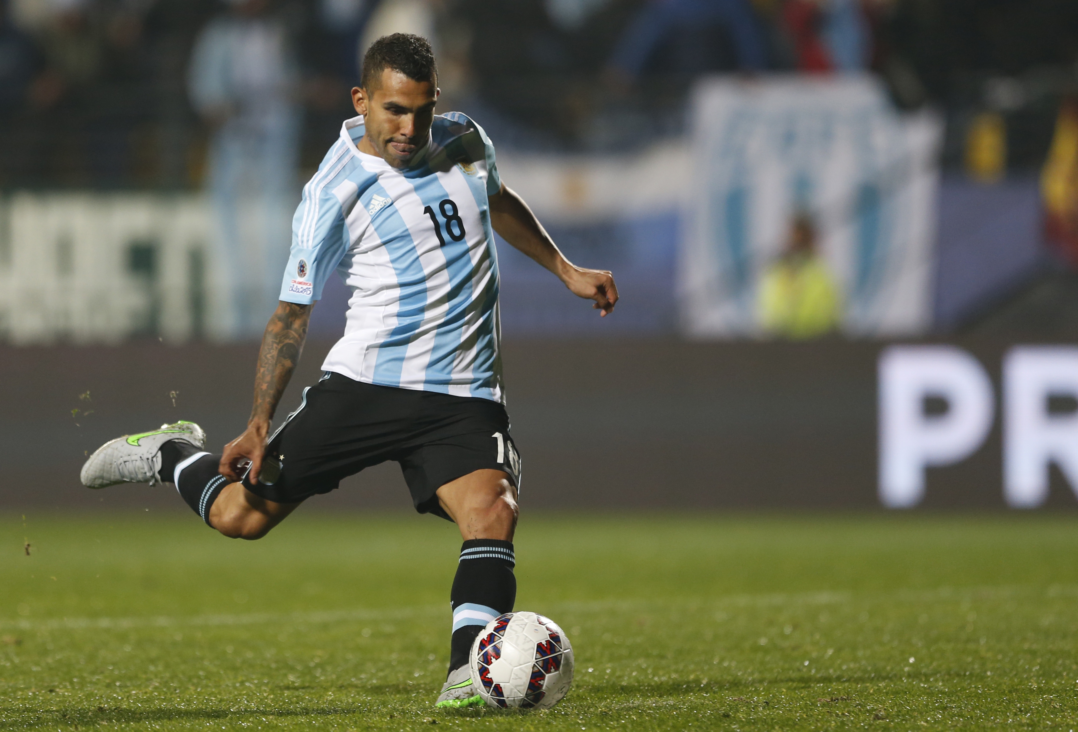 Watch Redemption for Carlos Tevez as Argentina down Colombia in