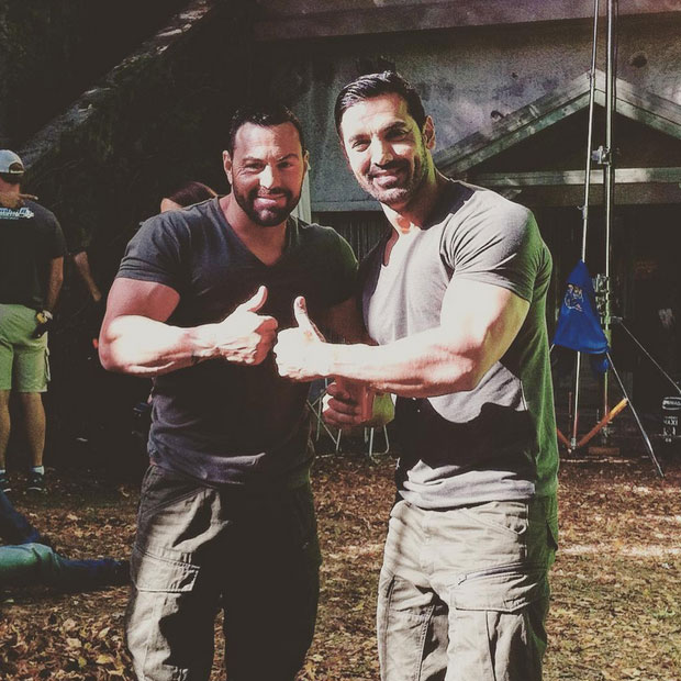Spotted John Abraham Strikes A Pose With His Body Double On Force