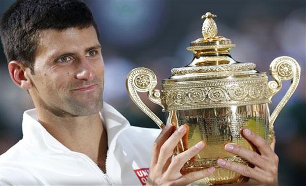 Wimbledon champion Novak Djokovic