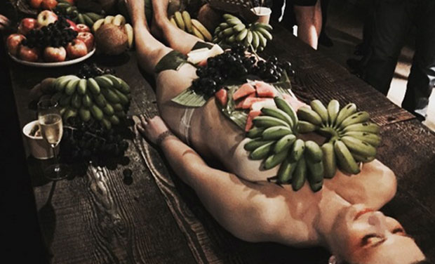 Women naked in fruits think