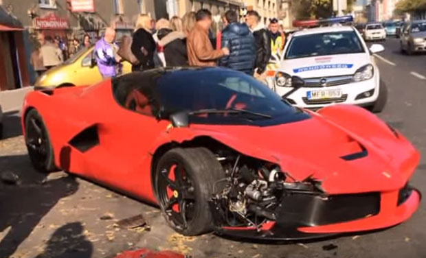Watch: Driver crashes his nd new Ferrari minutes after purchase