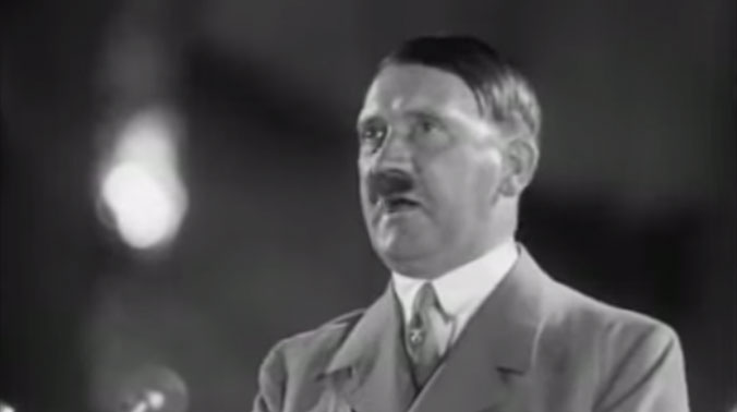 A screen grab featuring Adolf Hitler giving a speech. (Picture Courtesy: YouTube)