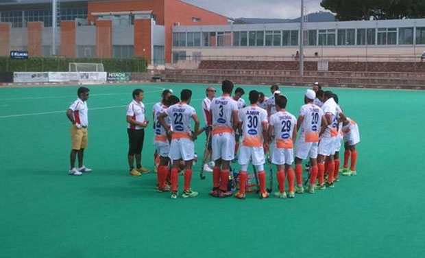 Banking on the long passes from teammates, Ramandeep managed to sneak into the Spanish defence in the 50th minute and scored the third goal for his team. Moments later, he kept his cool to score another goal, which gave India a 4-2 lead. (Photo: