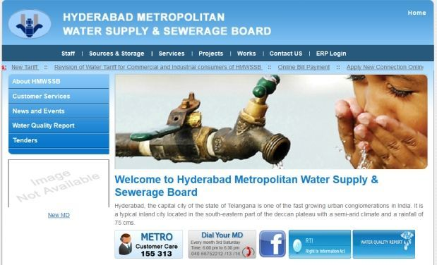 Hyderabad Metropolitan Water Supply and Sewerage Board Website (Representational Picture)
