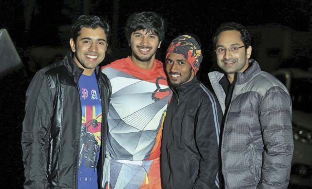 Vishnu with Nivin, Dulquer and Fahadh