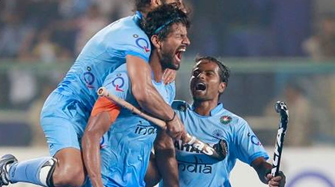 After starting the match on a slow note, India produced a fine show in the last two quarters to beat the world number two side with their relentless attacks in the second half. (Photo: Hockey India)