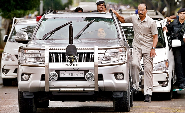 Cavalcade Of 24 Cars For Jayalalithaa
