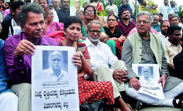Image result for Girish Karnad, gauri lankesh