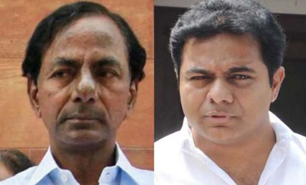 Chief Minister K. Chandrasekhar Rao (left) and IT Minister K.T. Rama Rao    (Photo: DC archives)