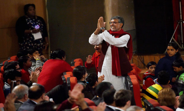Nobel laureate Kailash Satyarthi at a function in New Delhi (Photo: PTI)
