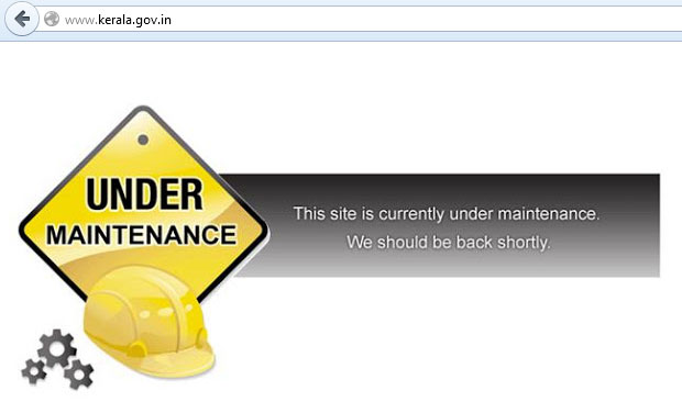 The Kerala Government is trying to restore the site after it was hacked (Photo: Screenshot of kerala.gov.in)