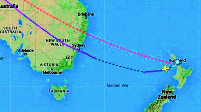 Malaysia Airlines\' MH 132 flies in wrong direction