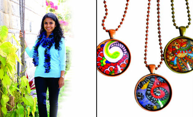 (L) Deepti Agrawal Mittal; (R) Some of her creations.