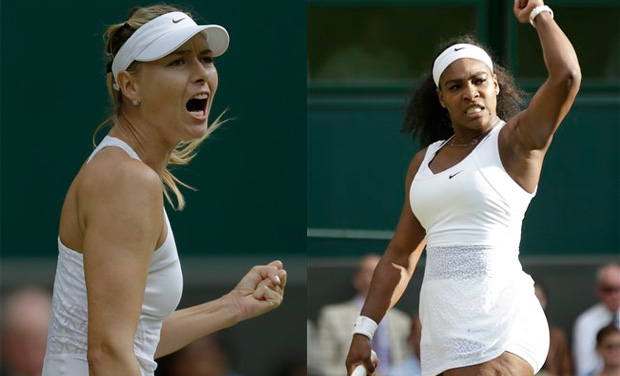 Maria Sharapova looks to end 11 years of misery when she tackles bitter rival Serena Williams for a place in the Wimbledon final. (Photo: AP)