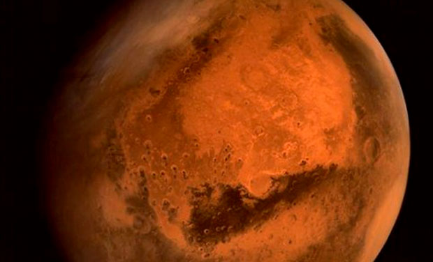 The latest picture taken by ISRO's Mars Orbiter shows the complete Red Planet (Photo: ISRO)