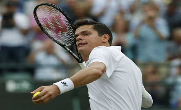Milos Raonic defeated world number 144 Kyrgios, who beat Rafael Nadal in the fourth round, 6-7 (4/7), 6-2, 6-4, 7-6 (7/4), to enter the semi-final of Wimbledon 2014. Photo: AP