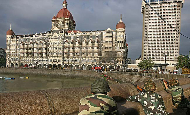 Army personnel take position during a military operation at the Taj Mahal hotel in Mumbai (Photo: AFP/File)