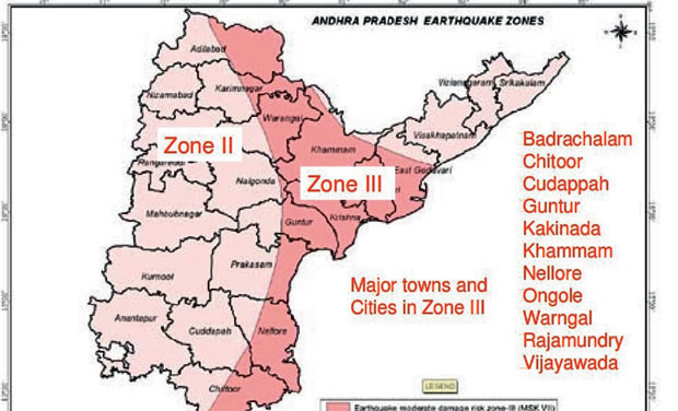 Proposed Andhra Pradesh capital area faces earthquake risk