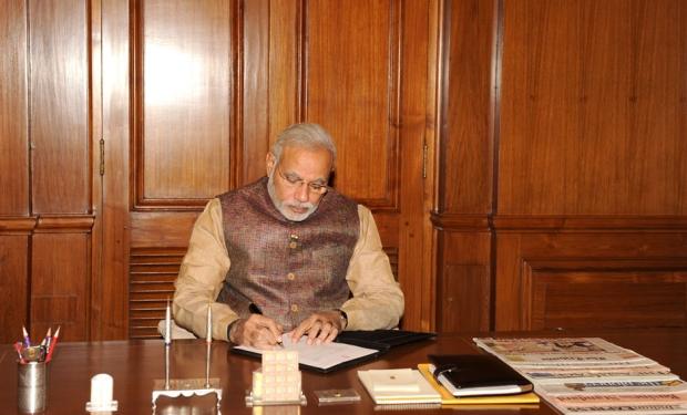 PM Narendra Modi at PMO