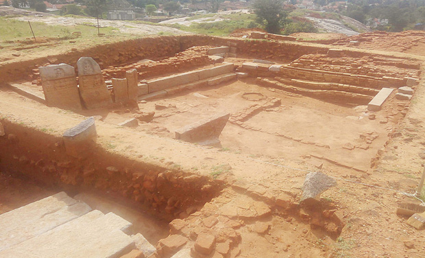 Site under excavation at Arthipura in Mandya. (Photo: DC)