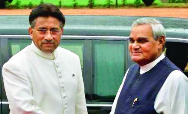 Image result for atal bihari vajpayee musharraf