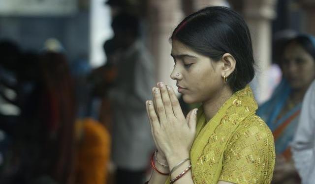 A praying devotee