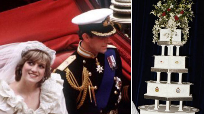 slice of history piece of princess diana s wedding cake to be auctioned soon piece of princess diana s wedding cake