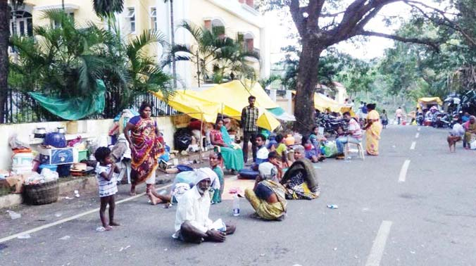 File photo of of a relief camp in Chennai
