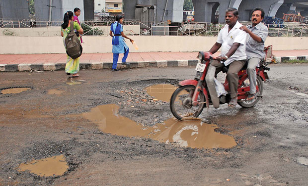 Image result for bad road chennai
