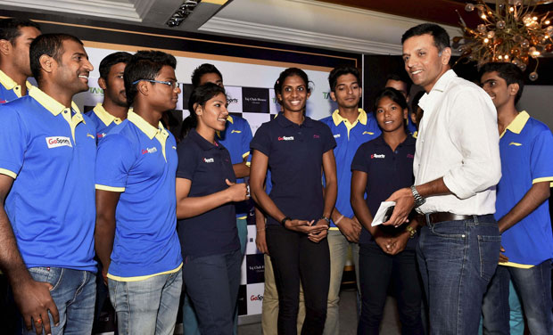 The Athlete Mentorship Programme, aimed to engage athletes from Olympic, Paralympic and Special Olympic disciplines, is being executed by Dravid in association with the GoSports Foundation. (Photo: PTI)