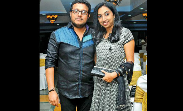 Director of 'Escape from Uganda', Rajesh Nair, with wife Usha.