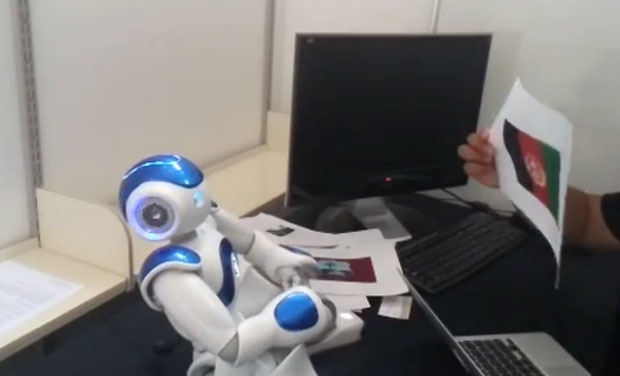 Developed by Ph. D student Eduardo Sandoval at the University of Canterbury, the robot named Ikram predicts Afghanistan will win the World Cup 2015. (Photo: Screengrab)