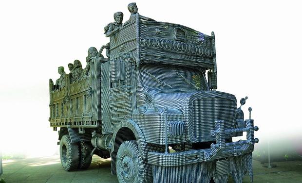 Sculpture of a truck