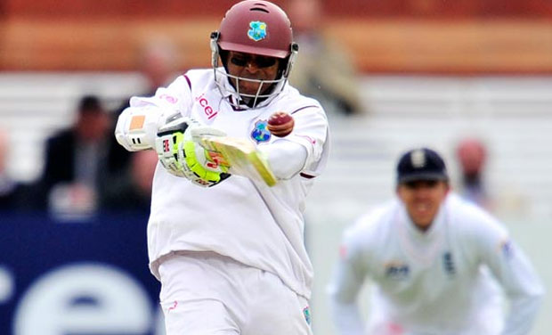 West Indies legend Shivnarine Chanderpaul (in picture) had a war of words with coach Phil Simmons over his selection for the series against Australia. (Photo: AFP)