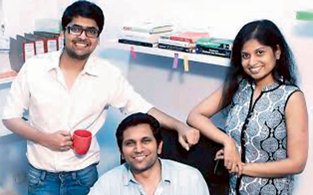 BEHIND THE SCENES: (From left) Sharath Chandra, Anurag and Rohita from the First Show Digital. (Photo: DC)