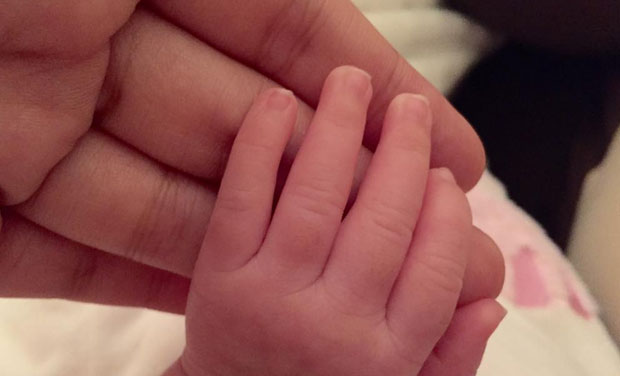 While MS Dhoni's official Facebook page posted this picture, Indian skipper's wife Sakshi took to Twitter to post first picture of their little daughter Ziva. (Photo: Twitter)
