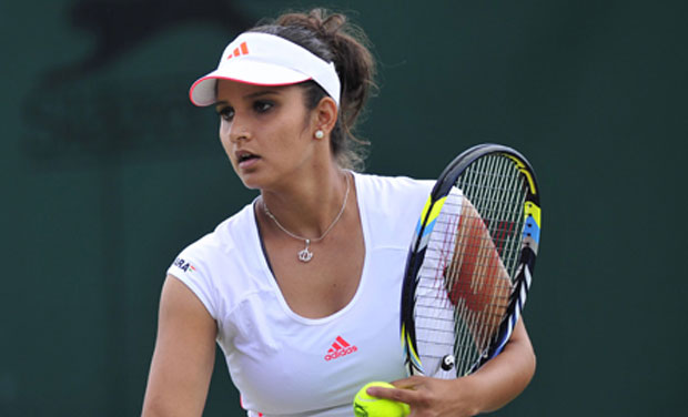 Sania Mirza and her Romanian partner, seeded sixth, outplayed Mate Pavic and Bojana Jovanovski 6-3 6-3 in a rain-interrupted match that lasted 58 minutes. Photo: AFP/ File