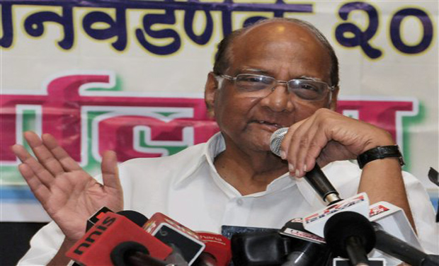 NCP Chief Sharad Pawar during a press conference at YB Chavan Center in South Mumbai. (Photo: PTI)