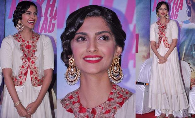 Sonam Kapoor looks impeccable in her beautiful hairdo. File photo