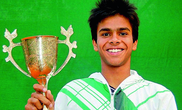 Indian junior tennis player Sumit Nagal