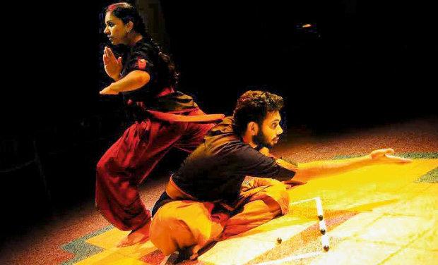Supraja Narayanaswamy and Ujwal Nair in the play