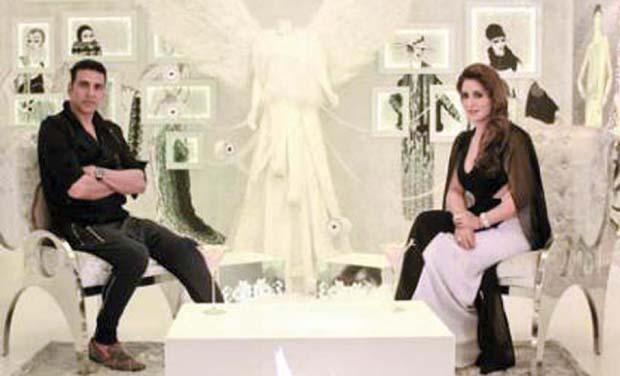 Pria Kataria Puri with Akshay Kumar.