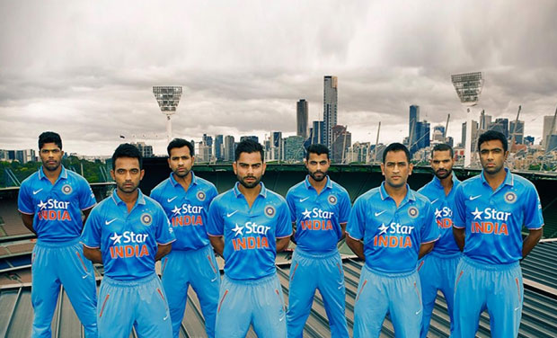 933306b36478 Watch  Team India unveils new ODI jersey for World Cup